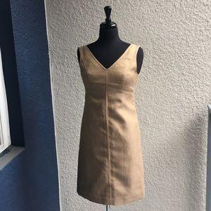 Talbots Linen Blend Sheath Dress
